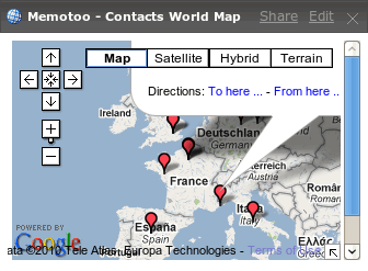 Displays the World Map of your contacts with Google Map !